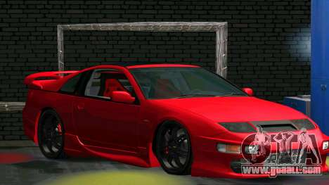 Nissan 300ZX for GTA San Andreas back left view