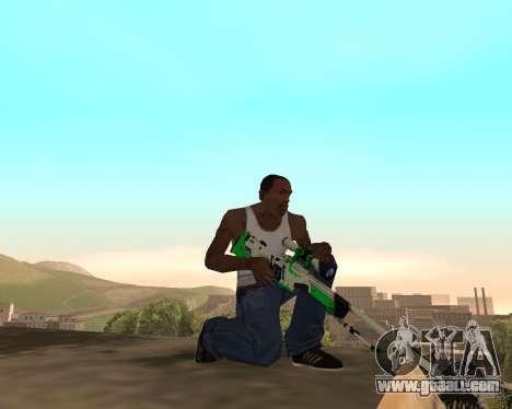 Green Pack Asiimov CS:GO for GTA San Andreas