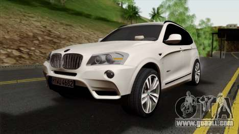 BMW X3 F25 2012 for GTA San Andreas