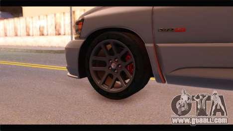 Dodge Ram SRT10 2006 Stock for GTA San Andreas back left view