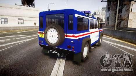 Land Rover Defender Policia PSP [ELS] for GTA 4 back left view