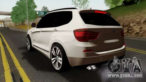 BMW X3 F25 2012 for GTA San Andreas left view