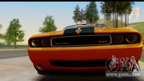 Dodge Challenger SRT8 2009 for GTA San Andreas back left view