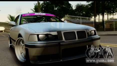 BMW E36 Drift for GTA San Andreas back left view