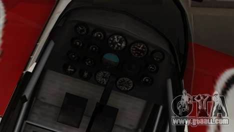 GTA 5 Stuntplane for GTA San Andreas back view
