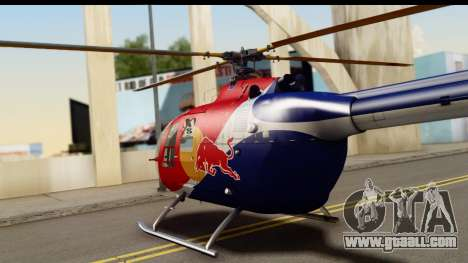 MBB Bo-105 Red Bull for GTA San Andreas right view