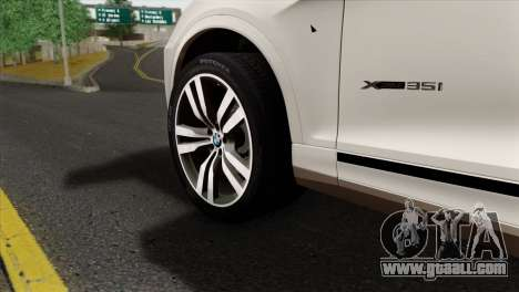 BMW X3 F25 2012 for GTA San Andreas back left view