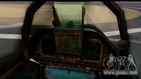 McDonnell Douglas FA-18C Hornet VMFA-232 USMC for GTA San Andreas back left view