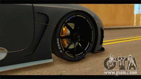 Koenigsegg Agera R 2011 Stock Version for GTA San Andreas