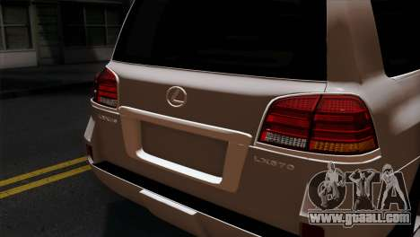 Lexus LX570 2011 for GTA San Andreas back view