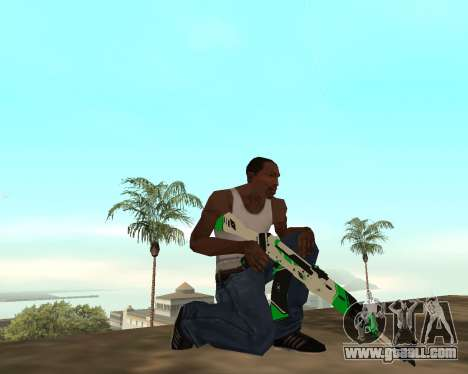 Green Pack Asiimov CS:GO for GTA San Andreas sixth screenshot