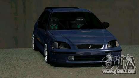 Honda Civic EK9 for GTA San Andreas inner view