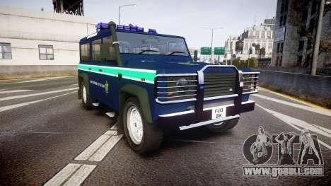 Land Rover Defender Policia GNR [ELS] for GTA 4