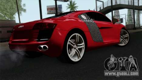 Audi R8 v2 for GTA San Andreas left view