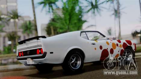 Ford Mustang Mach 1 429 Cobra Jet 1971 IVF АПП for GTA San Andreas bottom view