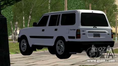 Toyota Land Cruiser 80 for GTA San Andreas back left view