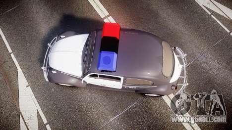 Volkswagen Fusca 1980 Military Police Sao Paulo for GTA 4 right view