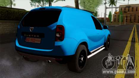 Dacia Duster Van for GTA San Andreas left view