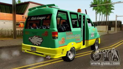 Toyota Microbus v2 for GTA San Andreas left view