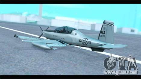 Beechcraft T-6 Texan II US Air Force 4 for GTA San Andreas left view