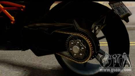 Ducati Diavel 2012 for GTA San Andreas inner view