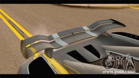 Koenigsegg Agera R 2011 Stock Version for GTA San Andreas back view