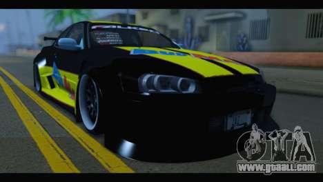 Nissan Skyline R34 BudMat for GTA San Andreas