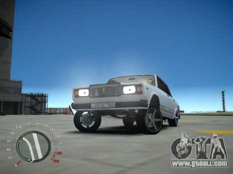 VAZ 2107 Aze for GTA 4 inner view