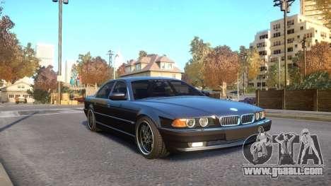 BMW 750i e38 1994 Final for GTA 4 back view