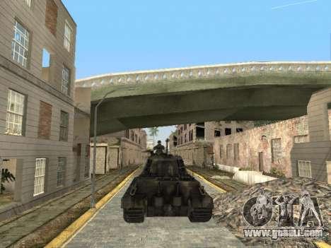 Panzerkampfwagen Tiger II for GTA San Andreas upper view