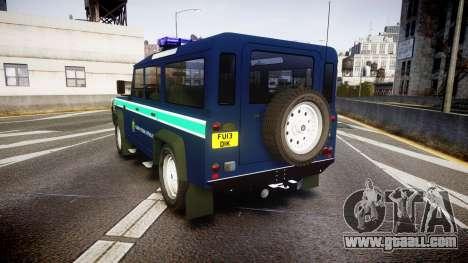 Land Rover Defender Policia GNR [ELS] for GTA 4 back left view