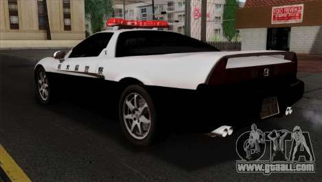 Honda NSX Police Car for GTA San Andreas left view