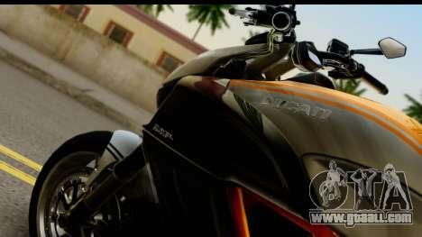 Ducati Diavel 2012 for GTA San Andreas right view