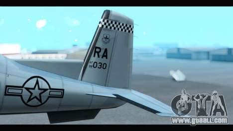 Beechcraft T-6 Texan II US Air Force 3 for GTA San Andreas back left view