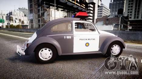 Volkswagen Fusca 1980 Military Police Sao Paulo for GTA 4 left view