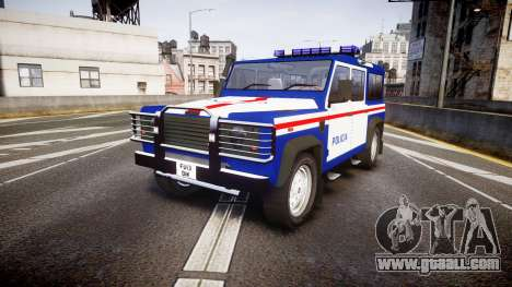 Land Rover Defender Policia PSP [ELS] for GTA 4