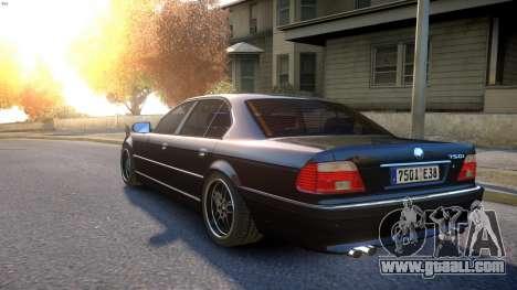 BMW 750i e38 1994 Final for GTA 4 back left view