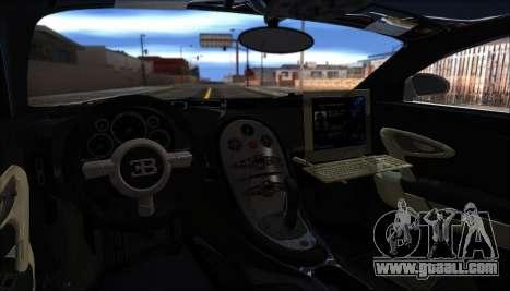 Bugatti Veyron 16.4 Dubai Police 2009 for GTA San Andreas back view