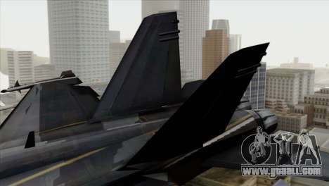 FA-18 HARV for GTA San Andreas back left view