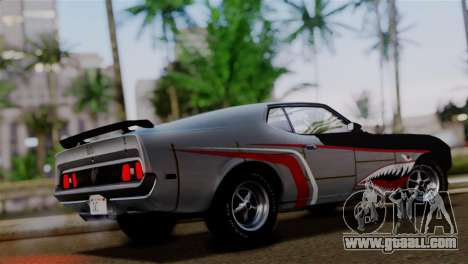 Ford Mustang Mach 1 429 Cobra Jet 1971 IVF АПП for GTA San Andreas upper view