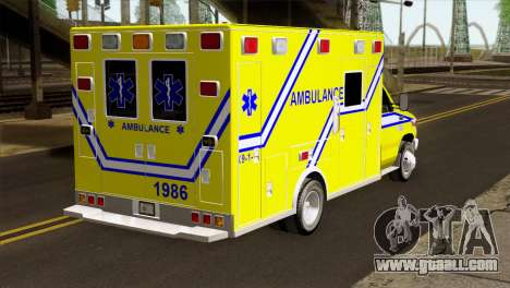 Ford F-450 2014 Quebec Ambulance for GTA San Andreas left view
