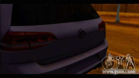 Volkswagen Golf 7 for GTA San Andreas back view