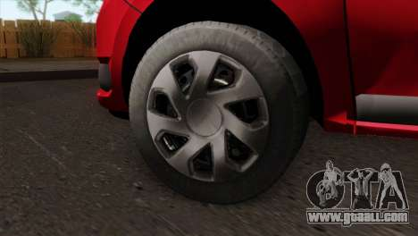 Dacia Logan MCV 2013 HQLM for GTA San Andreas back left view