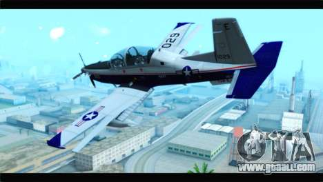 Beechcraft T-6 Texan II  United States Navy for GTA San Andreas left view