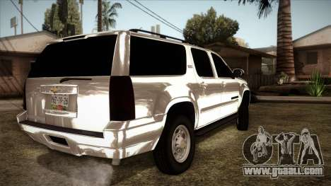 Chevrolet Suburban Plateada for GTA San Andreas left view