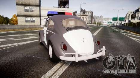 Volkswagen Fusca 1980 Military Police Sao Paulo for GTA 4 back left view