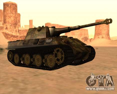 Pz.Kpfw. V Panther II Desert Camo for GTA San Andreas back view