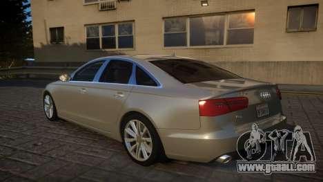 Audi A6 2012 v1.0 for GTA 4 back left view