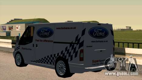 Ford Transit for GTA San Andreas back left view