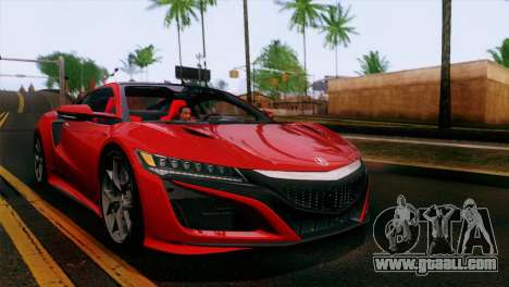 Acura NSX 2016 v1.0 JAP Plate for GTA San Andreas bottom view